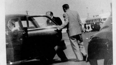 A photo taken by an ASIO photographer, believed to be on the day of Mr Petrov's defection.