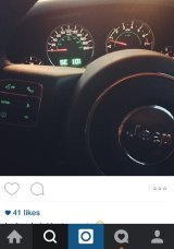 He got a Jeep: Karlose posted this picture of his new ride on Instagram.
