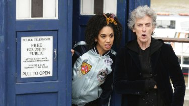 Fresh energy: Peter Capaldi as <i>Doctor Who</i> with Pearl Mackie as his companion Bill Potts.