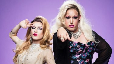 Kara Divine (left) and Pomara will host Drag Disco at Oxford Street's Midnight Shift.