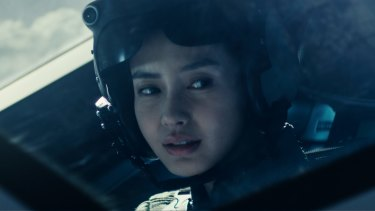 Hong Kong star Angelababy is also part of the fighting force in <i>Independence Day: Resurgence</i>.