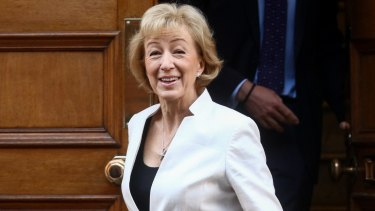 Andrea Leadsom, leader of the House of Commons.