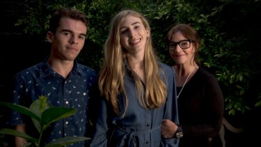 Georgie, her twin brother Harry and mum Rebekah Robertson are going to Canberra to lobby for an end to court control over hormone treatment.