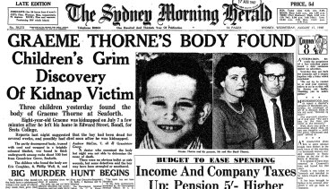 <i>The Sydney Morning Herald</i> reports on the discovery of Graeme's body five weeks after his disappearance.