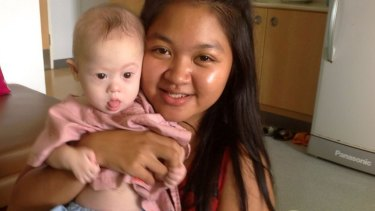 Thai surrogate mother Pattaramon Chanbua with baby Gammy, who has Down syndrome and was rejected by the prospective parents.