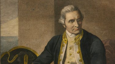 A 1779 engraving of Captain James Cook, who had sailed to the uncharted east of Australia coast nine years earlier.