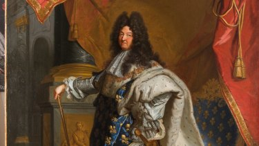 A painting of Louis XIV from the Versailles Palace.