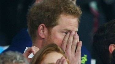 Supporting England at the rugby. Why wouldn't Prince Harry back the country where he was born?