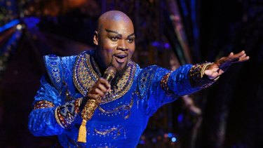 Michael James Scott took out the gong for best supporting actor in a musical for his role as the Genie in Aladdin.