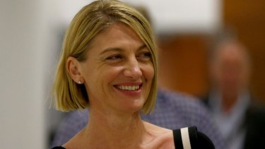 All smiles: Australian television presenter Tara Brown arrives in Sydney after being released from a Beirut prison.