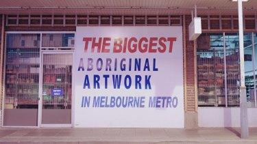 Steven Rhall, The biggest Aboriginal artwork in Melbourne metro, 2014-16.