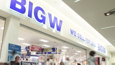 No Big W stores will be closed as part of the restructure.