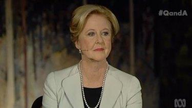 Australian Human Rights Commission president Gillian Triggs on <em>Q&A</em>.