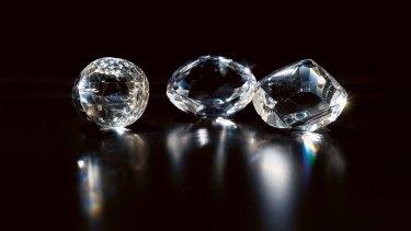 Hello, treasure: the Australian Museum's glass replicas of diamonds including the Orloff and the Koh-I-Noor.