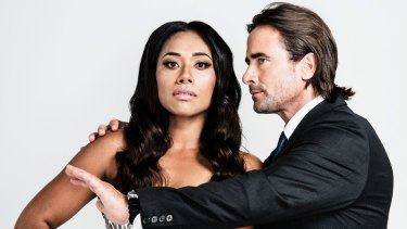 Paulini (left) and Kip Gamblin take the main roles in the stage musical of <i>The Bodyguard</i>.