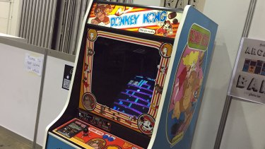 An original Donkey Kong arcade cabinet still brings in the crowds at PAX Australia.