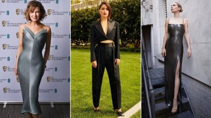 BAFTAs 2021: Stars mix home and away for red carpet