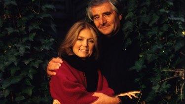 Gloria Steinem with her late husband, David Bale, in 2000.