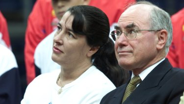 Jackie Kelly with John Howard during happier times.