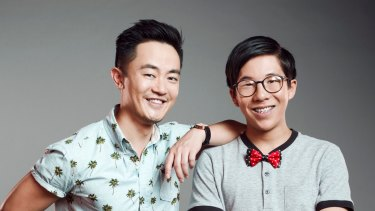 Benjamin Law, left, with Trystan Go from the SBS show <I>The Family Law</I>, which is breaking new ground with its depiction of Asian Australians.