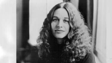 Carole King about 1975. Her album Tapestry has sold 25 million copies.