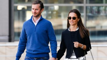Pippa Middleton and James Matthews in Sydney on Wednesday morning.