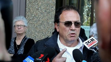 Paul Cachia outside court at the Roger Dean's appeal in September.