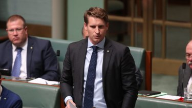 Andrew Hastie during question time at Parliament House.
