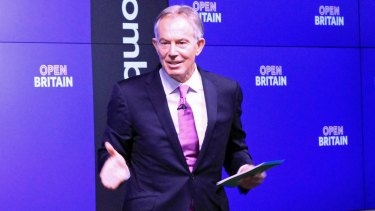 "Tony Blair urges Britons to ""rise up"" and campaign for a second Brexit referendum."