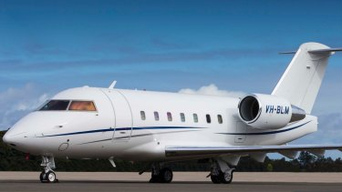 The corporate jet, a Challenger 604, to take Johnny Depp's dogs out of the Gold Coast.