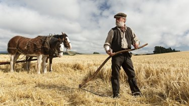 Painterly landscapes: Peter Mullan as John Guthrie in Terence Davies' Sunset Song.