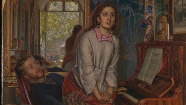 Detail of The Awakening Conscience by William Holman Hunt, 1853.