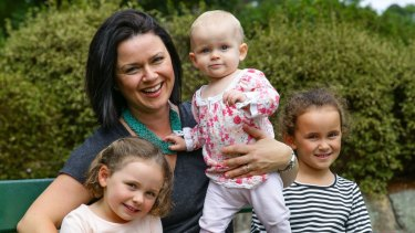 Rachel Chappell - with her children Zara, 4, Ella, 11 months, and Scarlett, 6 - started a group to help her make connections with other mums.