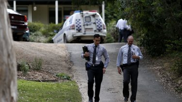 Police at the Eltham North home.