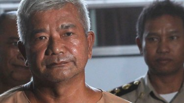 Lieutenant-Major Manas Kongpaen is the highest official convicted of several offences in the modern-day slavery trade.