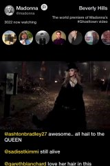 Madonna's premiere of her <i>Ghosttown</i> music video on Meerkat.