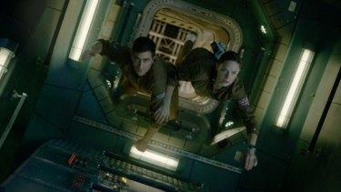 Staying afloat: Jake Gyllenhaal as Jordan and Rebecca Ferguson as Miranda in <i>Life</i>.