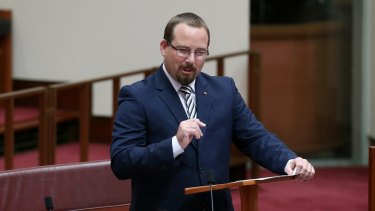 Senator Ricky Muir, who was elected with half of one per cent of the primary vote in Victoria.