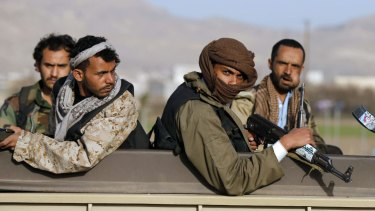 Houthi fighters on Thursday in Sanaa.