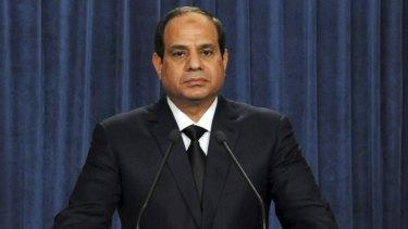 Egyptian President Abdel Fattah al-Sisi in Cairo.