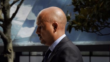 Muhammad Naveed arrives at Sydney's Downing Centre during the trial.