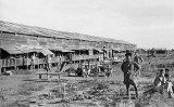 The prisoner of war camp in Basuo, Hainan island, China.