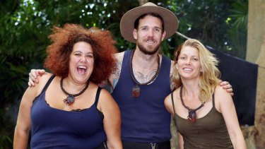 <i>I'm A Celebrity Get Me Out of Here</i> season 3 finalists: Casey Donovan, Dane Swan and Natalie Bassingthwaighte.