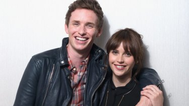 "Actors Eddie Redmayne and Felicity Jones of ""Theory of Everything"" at the 2014 Toronto International Film Festival"