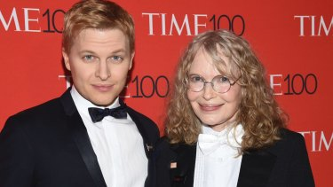 Farrow attends this year's Time 100 Gala with his actress mother, Mia.