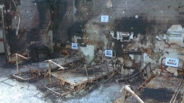 The aftermath of the Quakers Hill Nursing Home fire in November 2011.