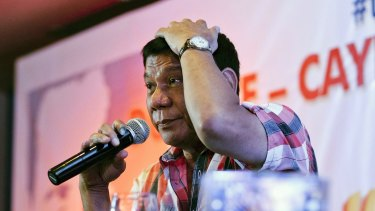 Rodrigo Duterte, mayor of Davao and presidential candidate, who  will soon be the Philippines' newest president.