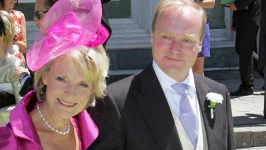 Prince Carlos de Bourbon-Parme and his mother Princess Irene at a Dutch royal wedding in 2012.