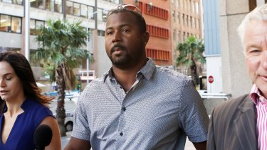 Gayle's teammate Dwayne Smith at the NSW Supreme Court on Tuesday.