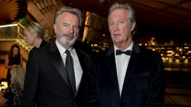 Birthday boys and best mates, actors Sam Neill and Bryan Brown.